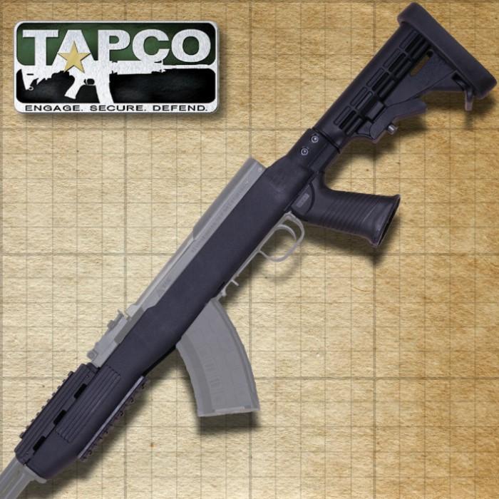 Tapco SKS Black Stock System With Bottom Rail
