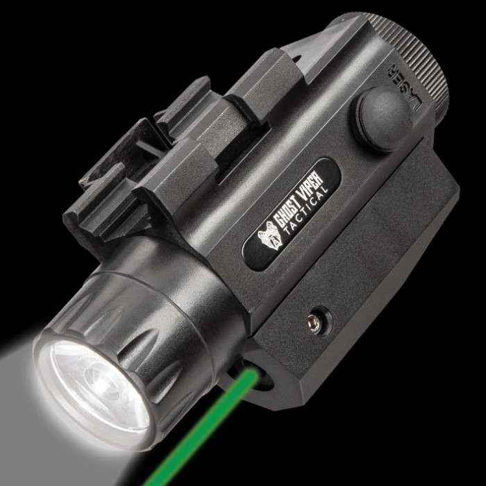 Ghost Viper Tactical 300 Green Laser And Flashlight Combo