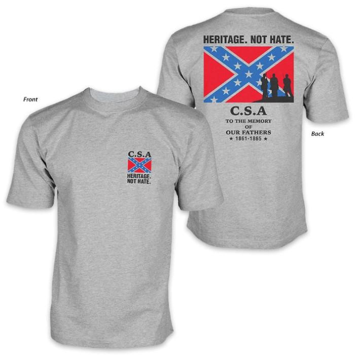 353168fd Heritage Not Hate CSA Confederate Rebel Flag T-Shirt | CHKadels.com ...