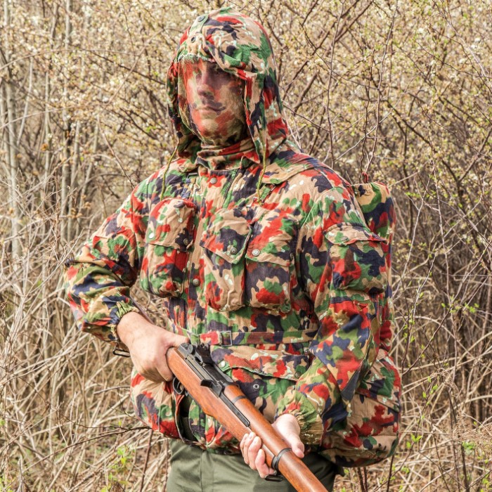 6b13e2263 Swiss Army M70 Field Jacket / Coat with Rucksack / Backpack - Genuine  Military Surplus; Used, Excellent Condition - Swiss Camo; Cotton /  Polyester; ...