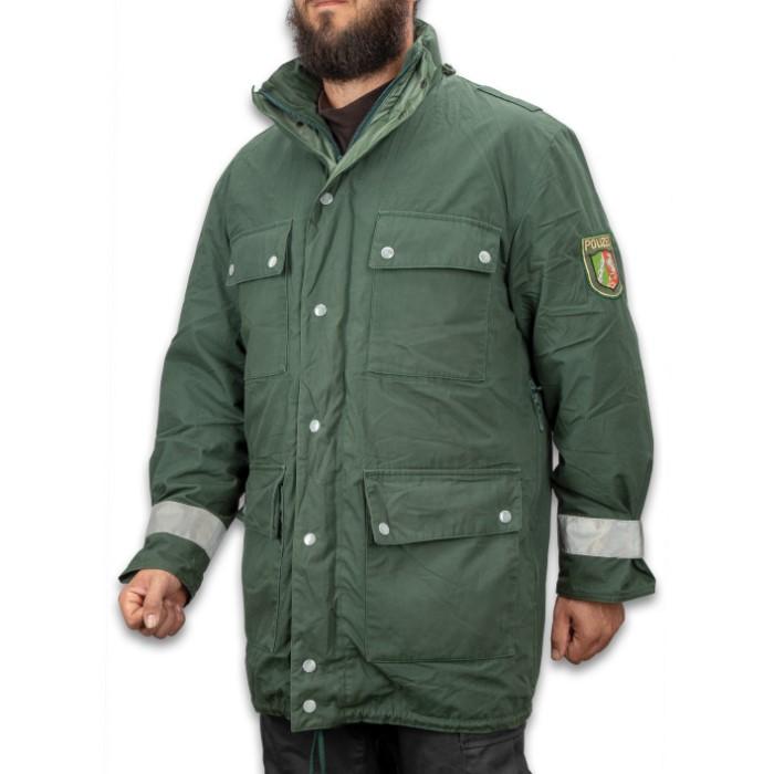 13be8a45ec317 German Polizei Border Patrol Parka - Used, Gor-Tex Material, Removable  Fleece Lining, Hidden Hood, Reflective Strips