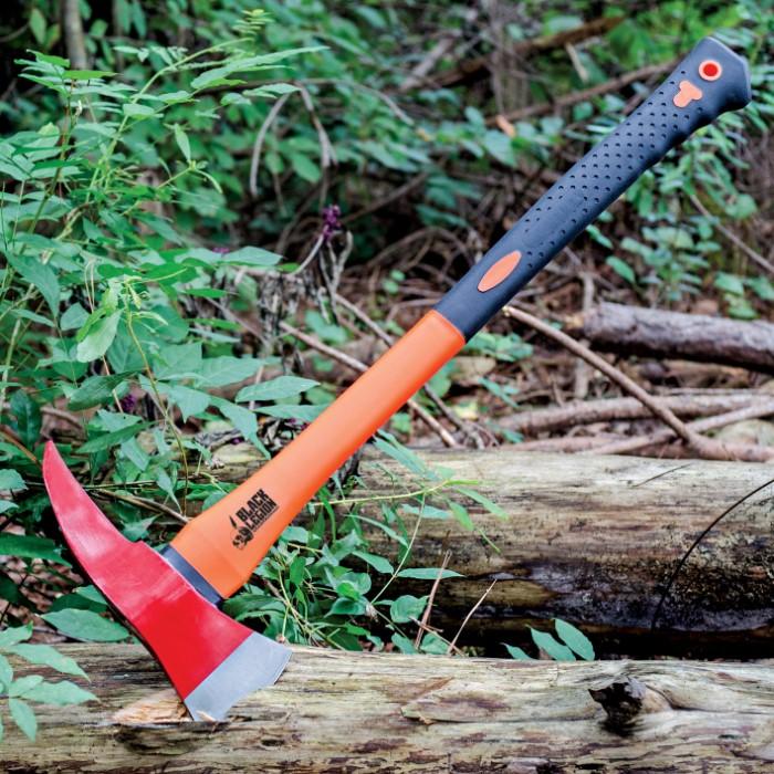 Demolition Tools - Deluxe Fire Axe - Orange / Red