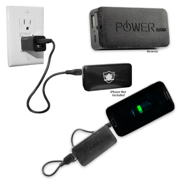 streetwise power bank 5200 portable rechargeable power supply kennesaw cutlery. Black Bedroom Furniture Sets. Home Design Ideas