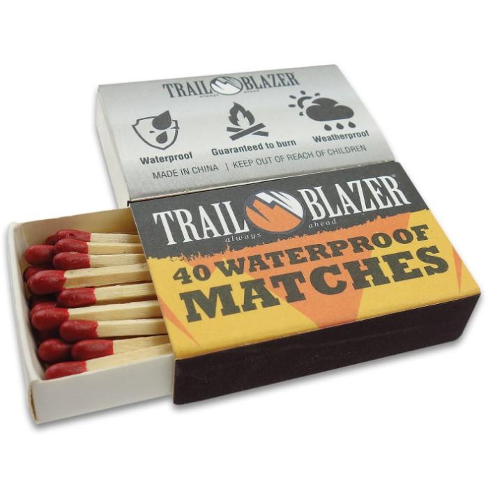 Trailblazer Waterproof Matches - Four-Pack | CHKadels com