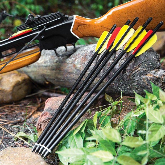Crossbow Arrows 5-Pack   BUDK com - Knives & Swords At The Lowest