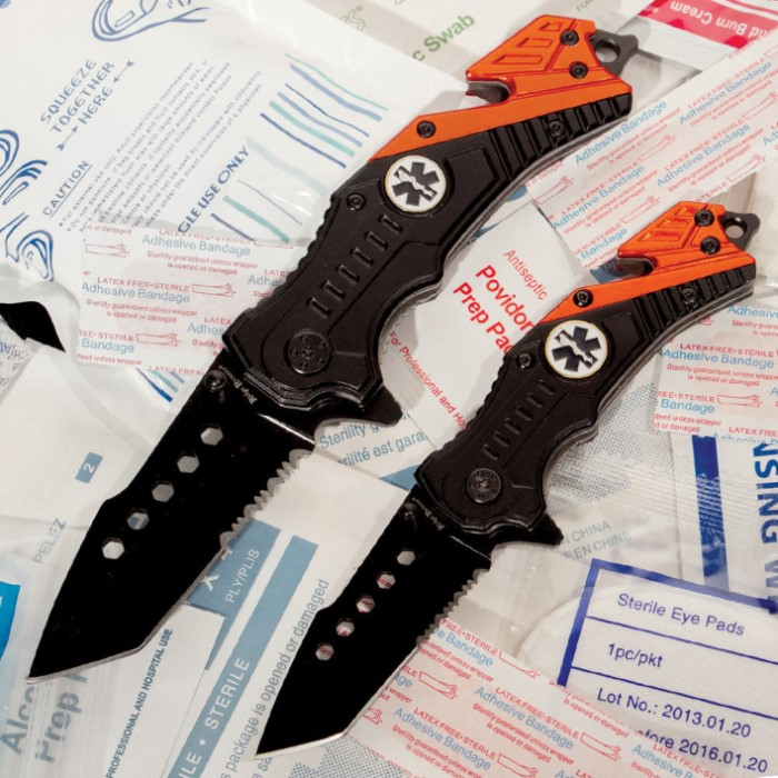 EMT Assisted Opening Rescue Pocket Knives Set