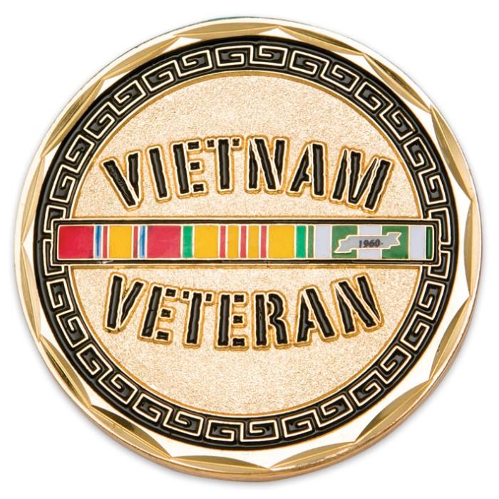 Vietnam Veteran Helmet Challenge Coin | Cutlery USA