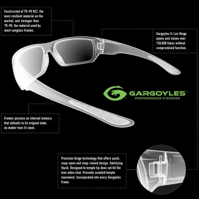 2ffcde04e58 Gargoyles Squall Black Sunglasses - Smoke Lens. prev