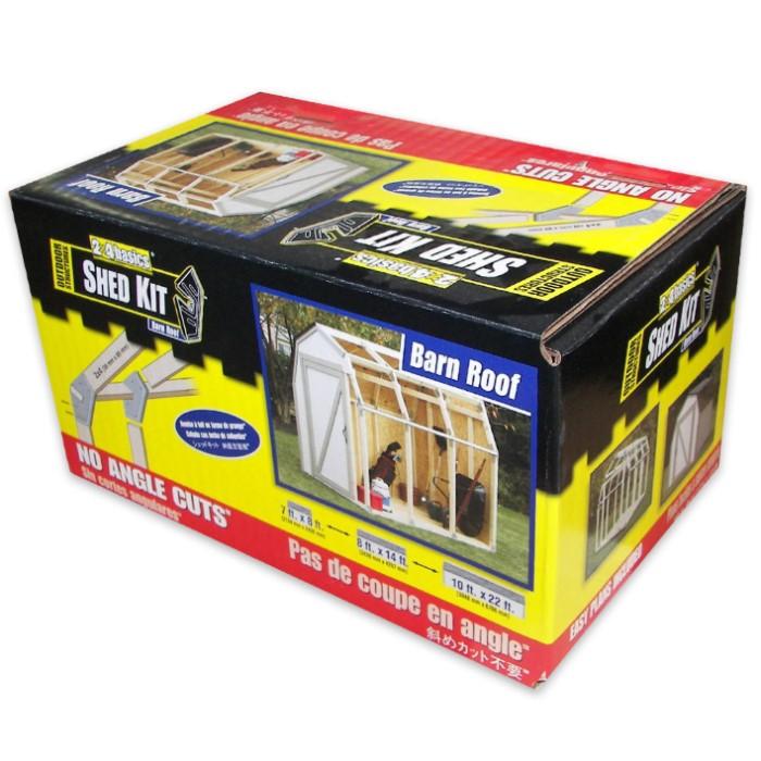 2x4 Basics DIY Shed Kit - Barn Roof Style | BUDK com