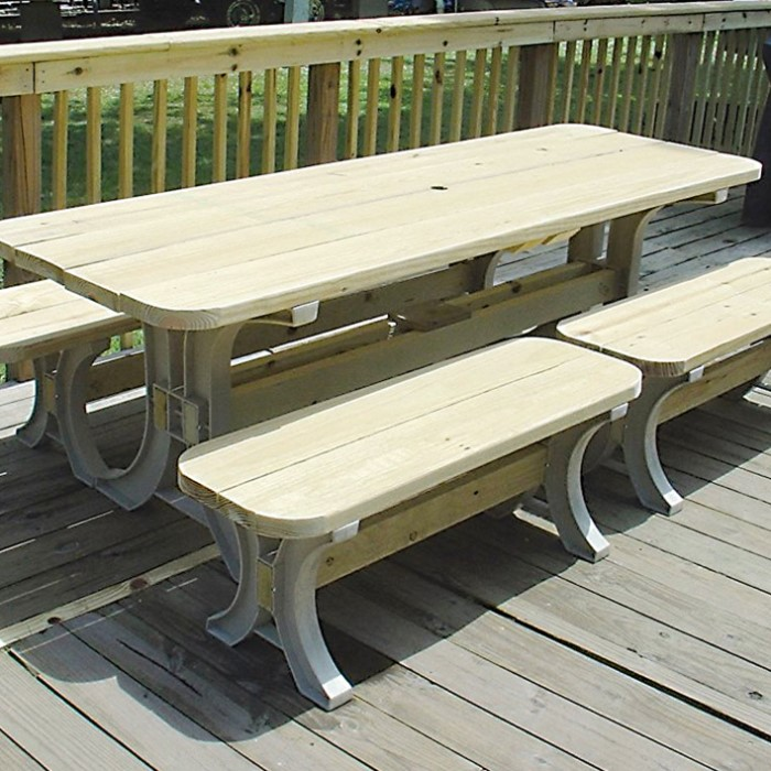 2x4 Basics Picnic Table Building Kit Makes Table And Two