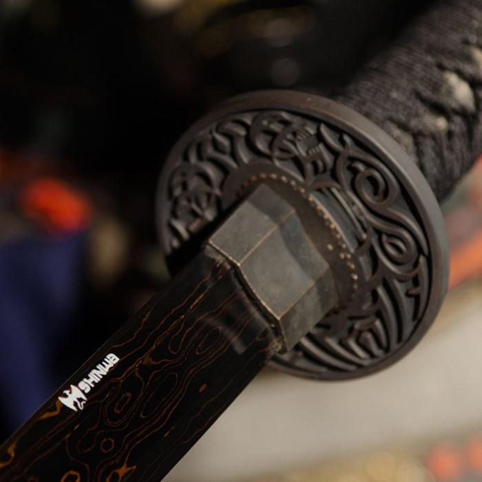 Shinwa Black Emperor Katana Sword Damascus Steel