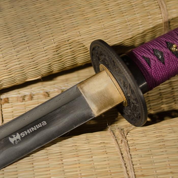 Shinwa Purple Emperor Damascus Steel Katana Sword