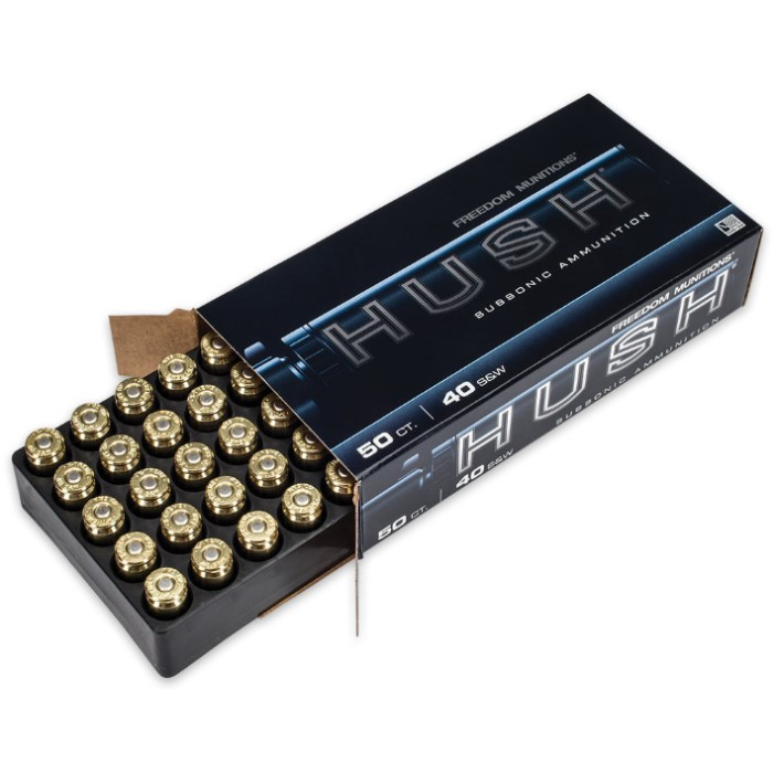 Freedom Munitions HUSH  40 Smith & Wesson 200gr RNFP Rounds