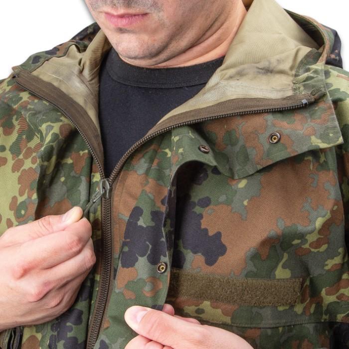 defaa8b2cf7cb German Military Surplus Wet Weather Jacket - Flecktarn Camo - Gore ...