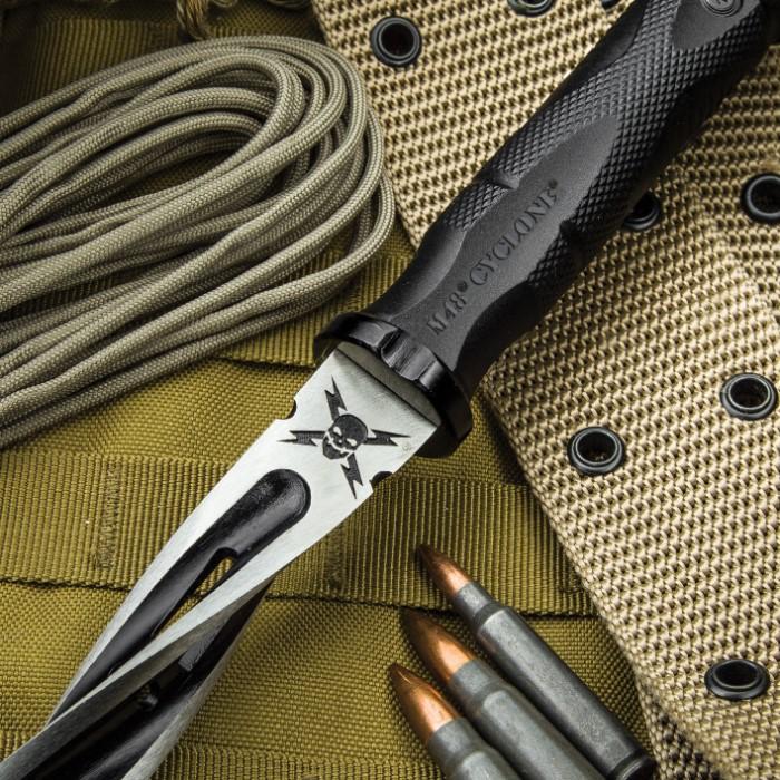 M48 Cyclone Fixed Blade Knife With Custom Vortec Sheath Budkcom