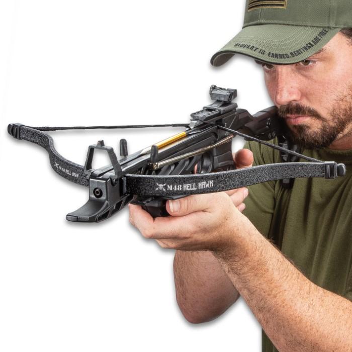 M48 Hell Hawk Self-Cocking Assault Crossbow Pistol - Lightweight