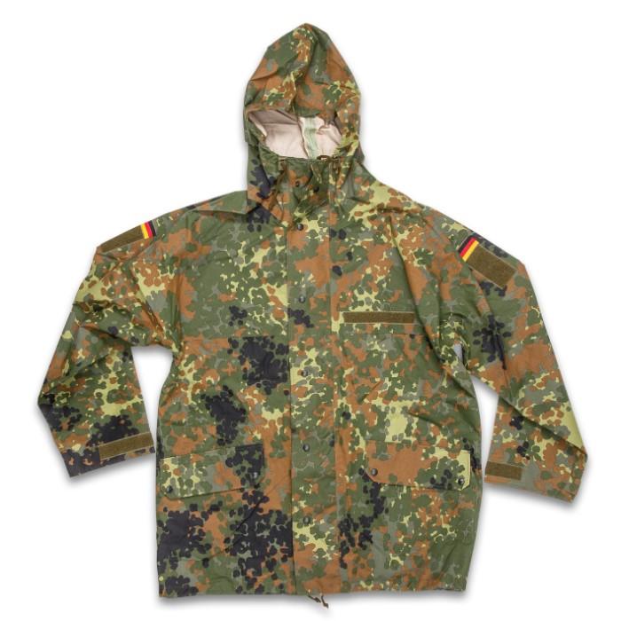 b1500cf5e2a42 German Military Surplus Wet Weather Jacket - Flecktarn Camo - Gore ...